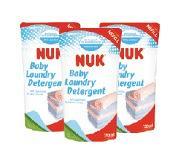 NUK嬰兒洗衣液補充裝 (750ml x 3包) $109/1套 $312/3套