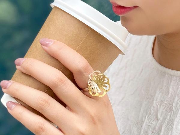 POPPIS 立體花瓣拼色戒指
