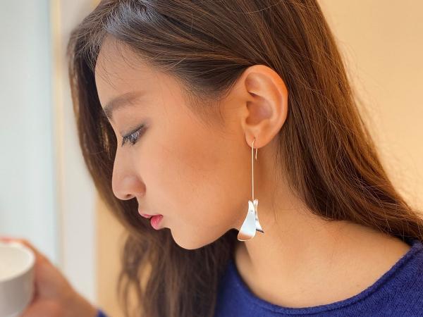 POPPIS 風中葉純銀耳環