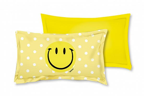 以35折HK$79搶購雅蘭床褥Smiley全棉印花枕套一對 (原價HK$249)