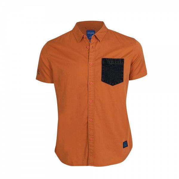 HK$79搶購Chevignon男裝拼色胸袋短袖恤衫 (原價HK$790)