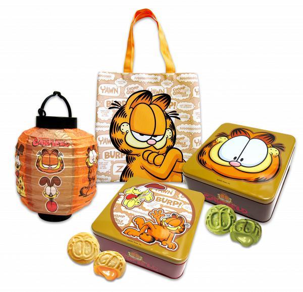 加菲貓袋、紙燈籠連兩罐月餅(奶黃流心+抹茶流心,各4件 早鳥$460