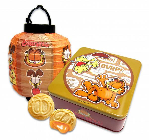 加菲貓紙燈籠連4件裝月餅罐 早鳥$220