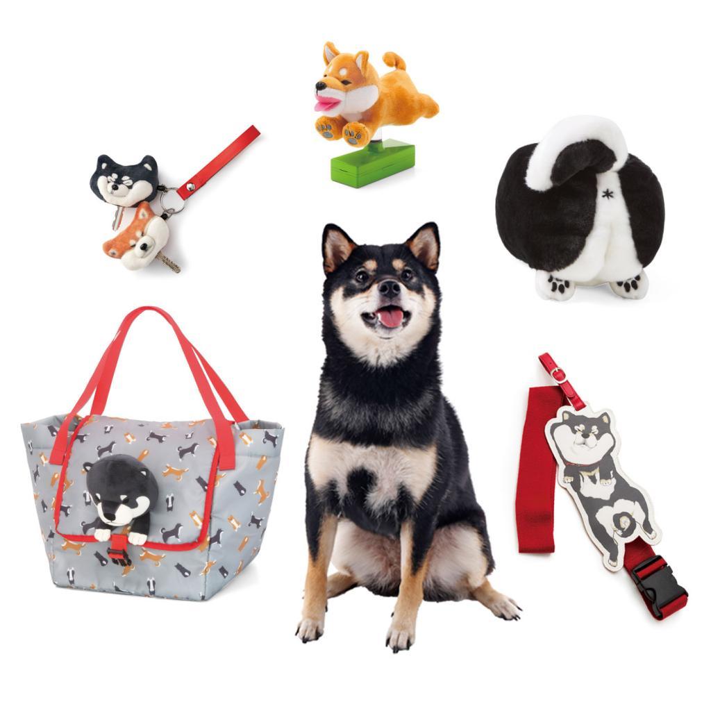 这个系列一套有六款柴犬杂货包括锁匙套,行李带,屁股收纳袋,巨型看门