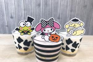 Sanrio x 美心萬聖節甜品杯  可愛吸血彊屍、木乃伊造型