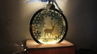 自選冬日雪景!窩心聖誕禮物 親手整限定雪花水晶球小夜燈