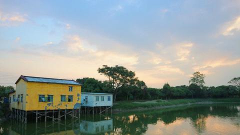 【香港郊遊系列】彩色小屋+恬靜的塘湖-大生圍