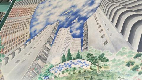 長沙灣拱形天花壁畫!重現舊屋邨面貌