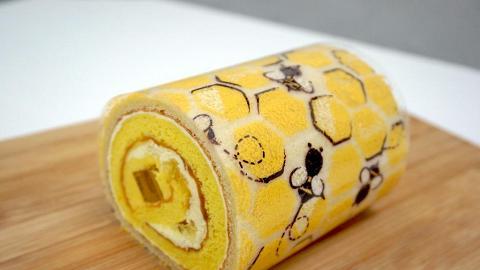 可愛蜂巢造型 蜂蜜檸檬卷蛋登場
