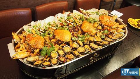 份量好誇張!超巨型麻辣海鮮鍋+冒菜