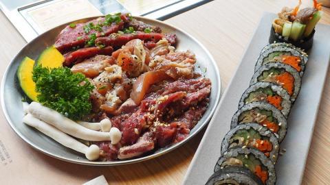 炑八新開平民版副線 $98一人韓燒食勻靚牛、護心肉、紫菜包飯