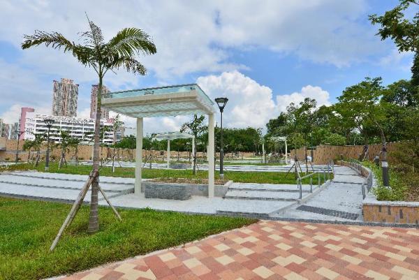 天業路公園的園景休憩處