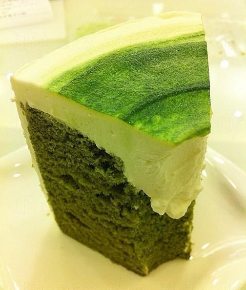 抹茶雪芳蛋糕
