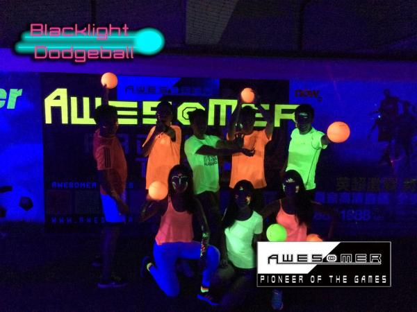 Blacklight Dodgeball Party 工廈sharp爆熒光閃避球(圖:FB@Blacklight-Dodgeball)