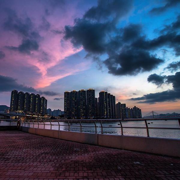荃灣海濱公園長廊(圖:#uhkphoto投稿/IG@ho.s_)