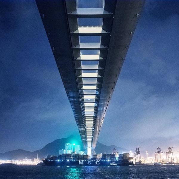 昂船洲大橋(圖:#uhkphoto投稿/IG@_6eight)