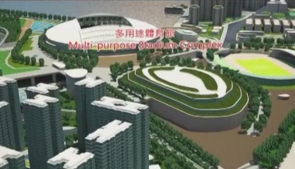 啟德體育園區(圖:youtube@HKSDRI)
