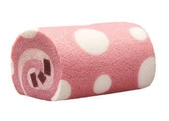 粉紅波點造型 連鎖餅店新出士多啤梨味軟心卷