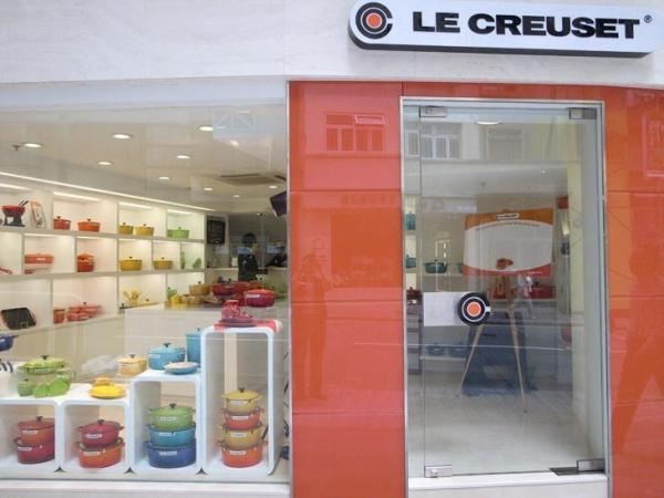 位於雲咸街的 Le Creuset  是第一間大中華區旗艦店。
