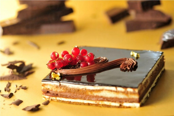 朱古力蛋糕是糕餅店經典款式。