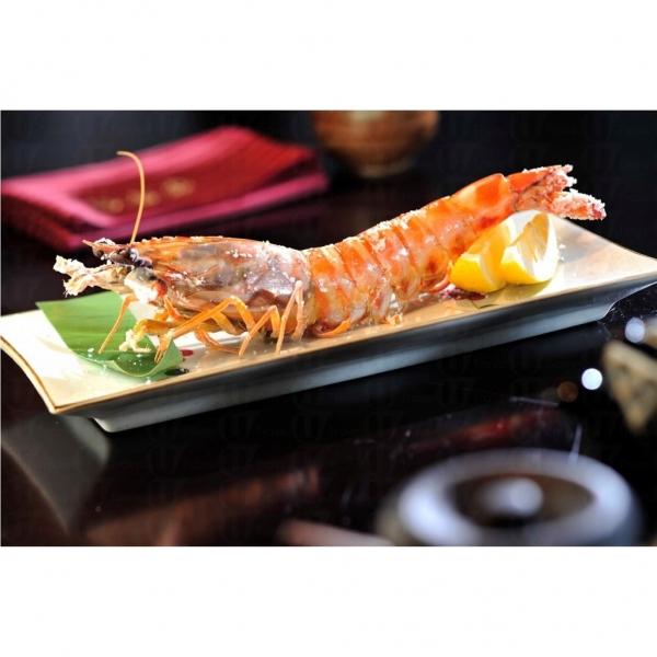 大蝦爐端燒可謂色香味美。