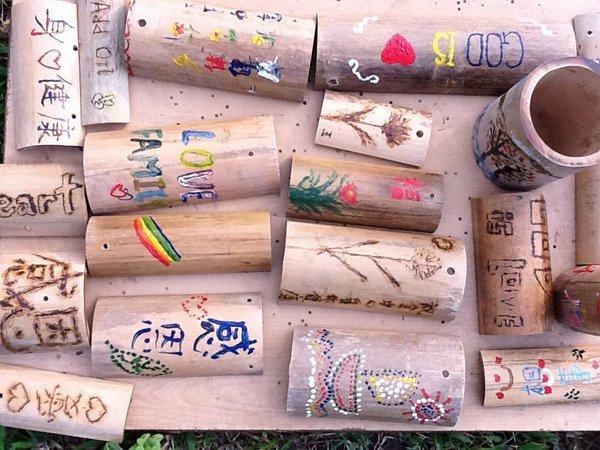 DIY 竹門牌。