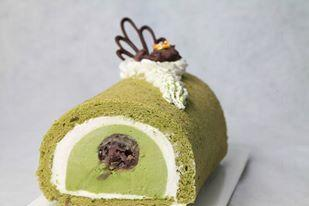 綠茶紅荳MOUSSE蛋卷