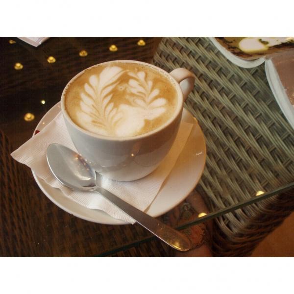 MG CAFE 咖啡豆是來自精選的蘇門答臘、巴拿馬地區,還要在先到台灣烘焙之後才空運過來,所用的咖啡奶也是日本的明治鮮奶,入口香濃 (網上圖片)