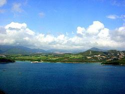 山頂遠望滘西洲(漁農署圖片)