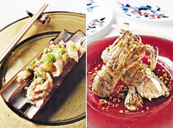 金銀蒜粉絲蒸蟶子皇 / 椒鹽富貴蝦