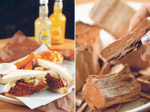 Pulled Pork Sandwich Combo $135 / 煙熏橡木用來烤肉的美國橡木,經過九個月時間熏製。