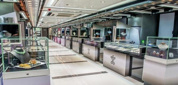 珠寶匯商場內的環境。