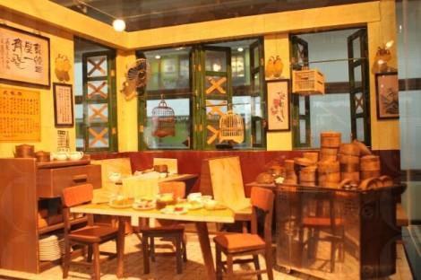 迷你龍鳳茶樓,還可見舊式茶樓格局。(關璇攝)