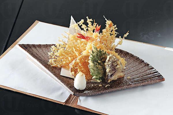 雜錦天婦羅 $98︰用日本麻油去炸,有蝦、南瓜薯等,將素麵炸成扇形,很有心思。