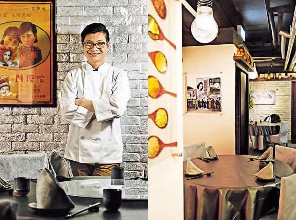 Calvin 入廚十多年,更在外國工作多年,將在國外學來的菜式融入中菜中。 / 室內環境以淺灰及加上 Pop Art 畫為主,用餐氣氛舒適。