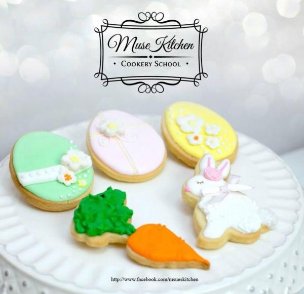以復活節為主題的糖霜曲奇造形可愛,小朋友一定喜歡