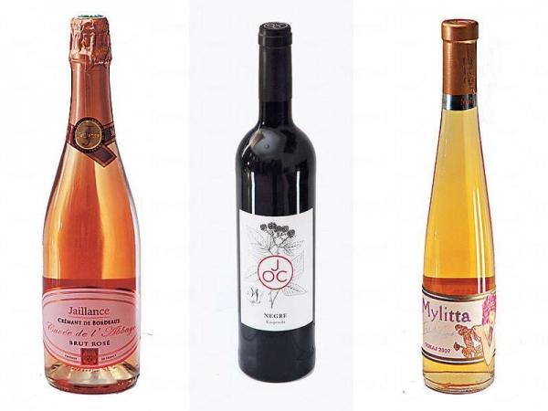 【L'abbaye $225】所選用的葡萄經過揀選,bubble 豐富也有野莓香味。 / 【JOC $217】來自西班牙,充滿紅莓果的酸香氣息。 / 【Mylitta $293】坊間少見的匈牙利甜酒,