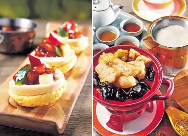 菠蘿菠蘿咕嚕肉($58):菠蘿包加上菠蘿咕嚕肉,故有這生鬼的名字。入口酸甜,配合菠蘿包同吃,極具新鮮感。/ 重慶石鍋豆花魚($78):提議可先嘗一口充滿辣勁的石鍋魚,隨後混入一點豆腐花,辣度降低之餘,