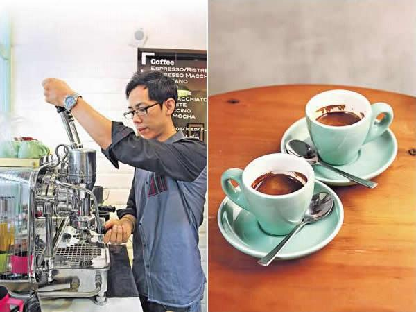 Felix 說這部古董拉桿機會有「脾氣」,要沖上幾杯讓它運行順了才進入狀態。機桿是全手動的,水溫壓力可調校,比現今的意式咖啡機更講求咖啡師技術。/ Espresso($20/Single)、($25/