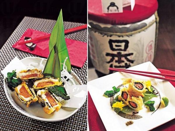芝味鵝肝($95):Michael 的出品以層次豐富見稱,像這道菜,外層是日本番薯,夾着厚身的法國鵝肝和 Cream Cheese 同炸,外脆內軟。/ 深海飛魚($108):沙鎚魚細細條,但魚味濃,亦