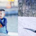 被大地寵愛的孩子!應采兒感歎5歲Jasper首次滑雪就得心應手零失誤