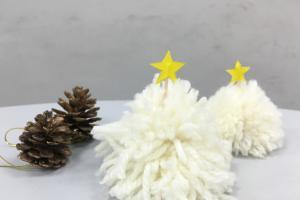 5分鐘完成!白色迷你毛冷聖誕樹