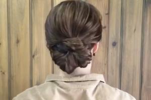 必學快速出門髮型 1分鐘綁氣質扇形髻