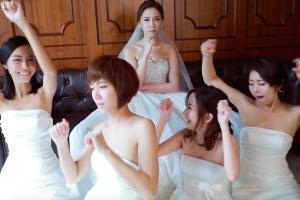 台灣新人婚禮大跳洗腦抖肩舞!姐妹團表情十足超搶鏡