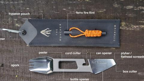 露營必備!一支餐具結合10種功能
