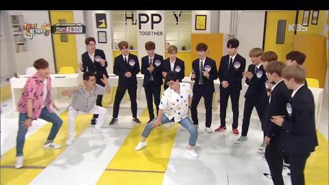 劉在錫挑戰「39禁」大腿舞 Wanna One情景劇放笑彈