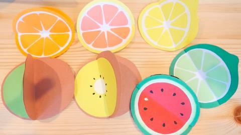 迷你香橙傳遞祝福!簡單DIY整出可愛水果心意卡