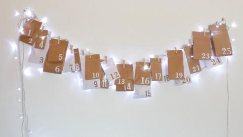 簡易自製聖誕倒數日曆 做家居裝飾/驚喜禮物都得!