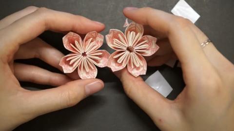 簡易摺紙教學!親手摺出浪漫粉色櫻花