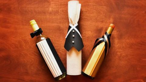 酒瓶變紳士!3款簡易包裝方法